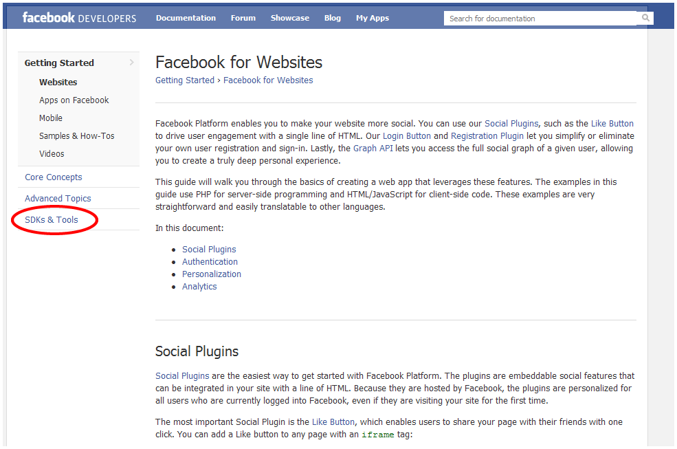 Facebook Developers Screen 2